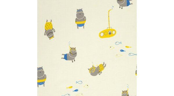 Hippos Diving Jersey Fabric