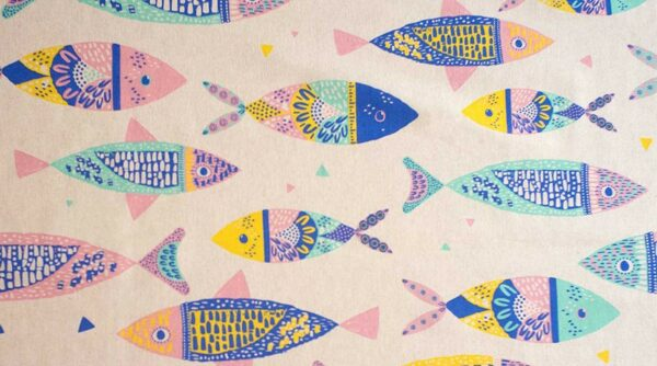 Colour Fishes Canvas Fabric