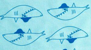 Summer Shark Sweat Fabric