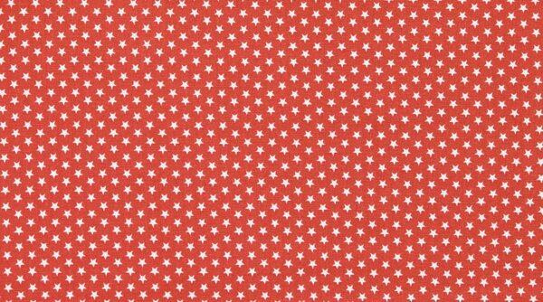 StarsMini - Estrela Branca em Vermelho
