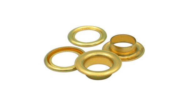 Ilhós 14mm - Dourado (20x)