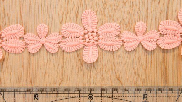 Renda - Guipur - Flores Salmão