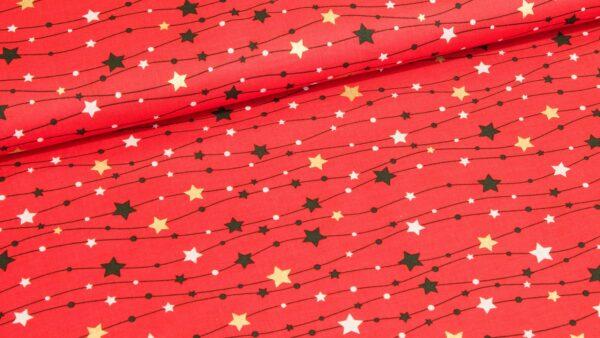 Chuva de Estrelas em Vermelho