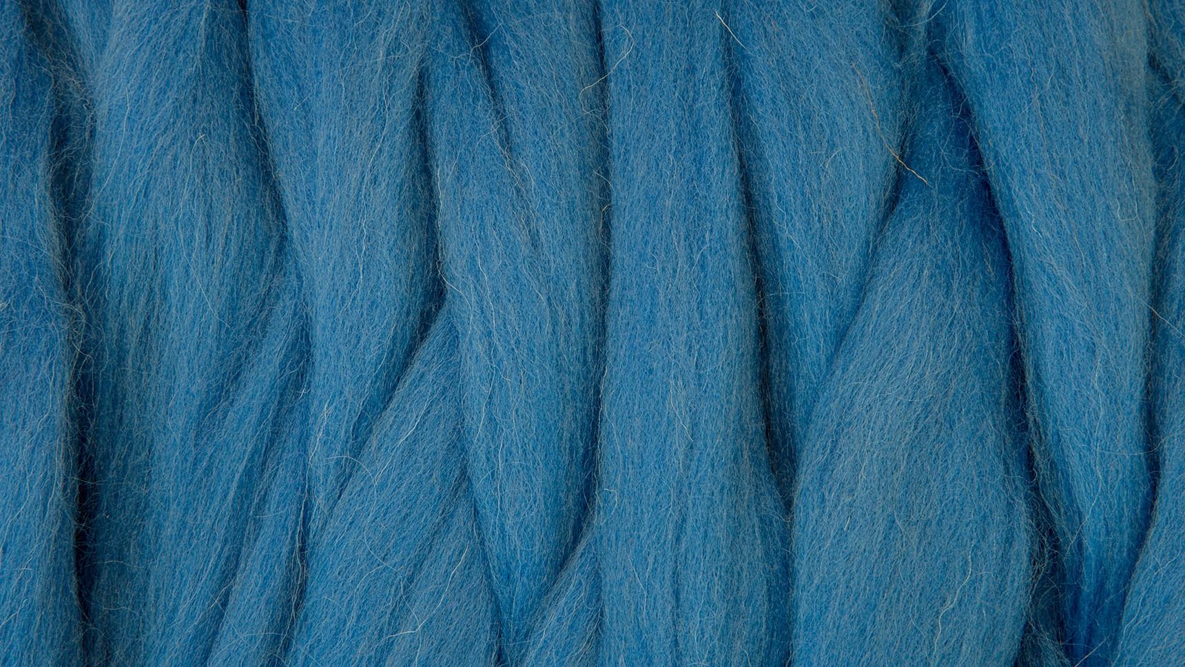 Lã Merino para Feltrar - Azul