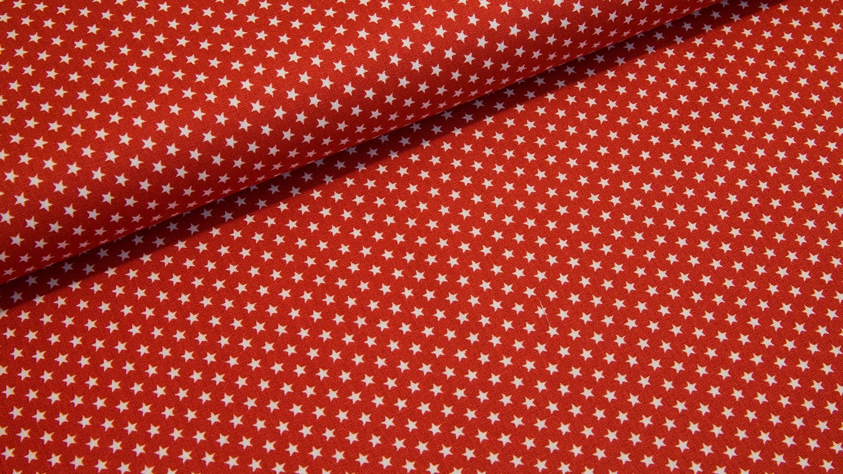 Estrelinhas Brancas em Vermelho