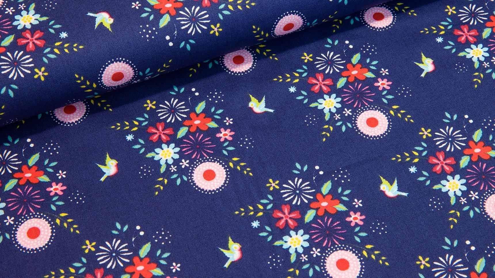 Passaritos e Floritas - Azul