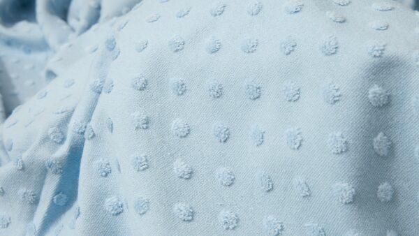 Tecido de Algodão c/ Relevos - Azul Bebé