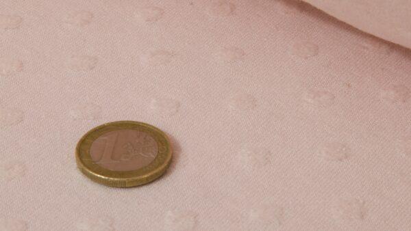 Tecido de Algodão c/ Relevos - Rosa Bebé