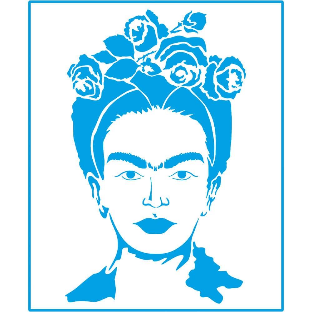 Stencil Frida Khalo