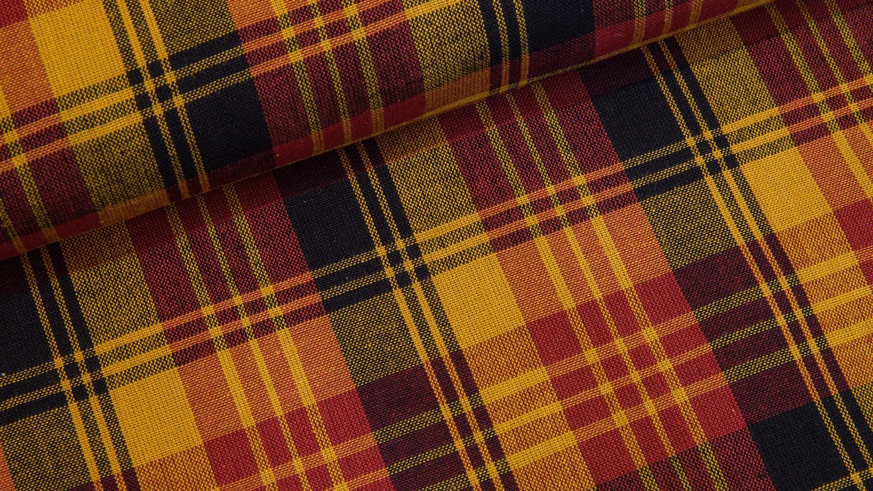 Tecido Country Escocês - Amarelo
