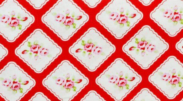 Framed Rosebuds - Red
