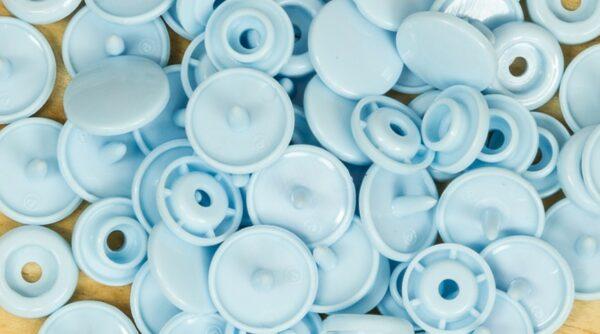 Pack de Molas de Pressão - Azul Bebé