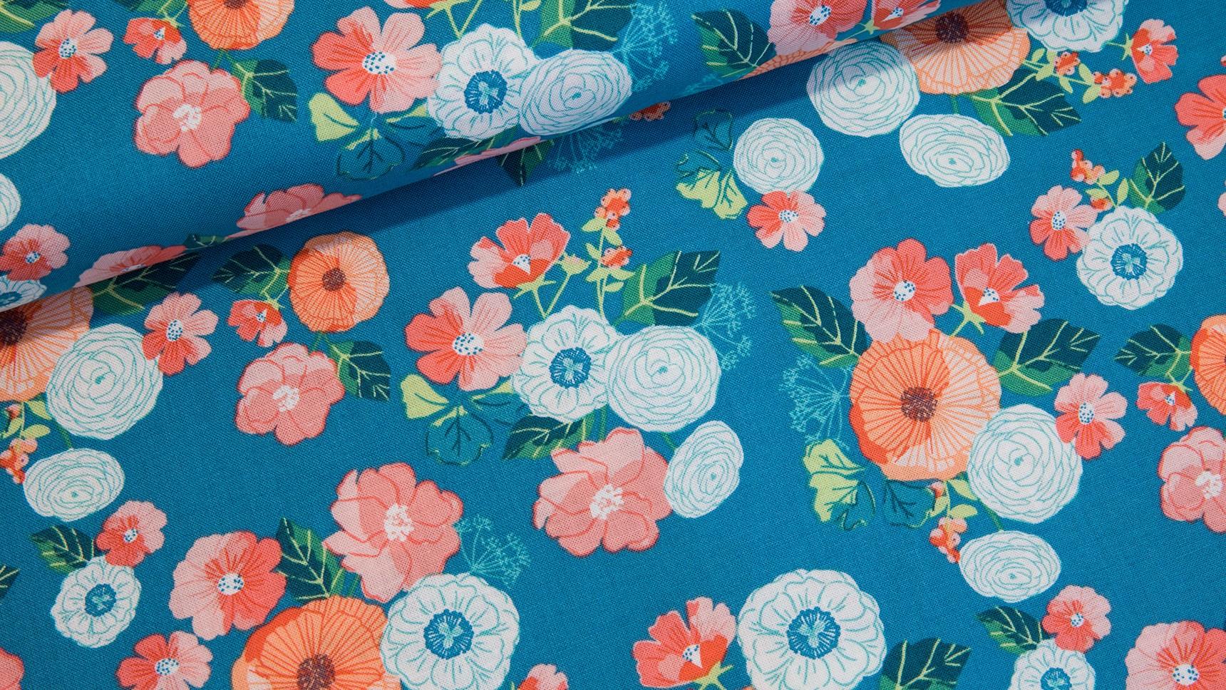 Midsummer Meadow - Wild Bouquet Teal