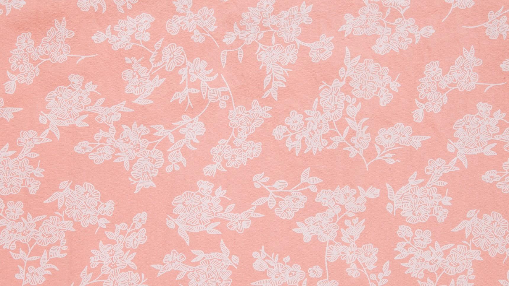 Floral Desenhado Rosa