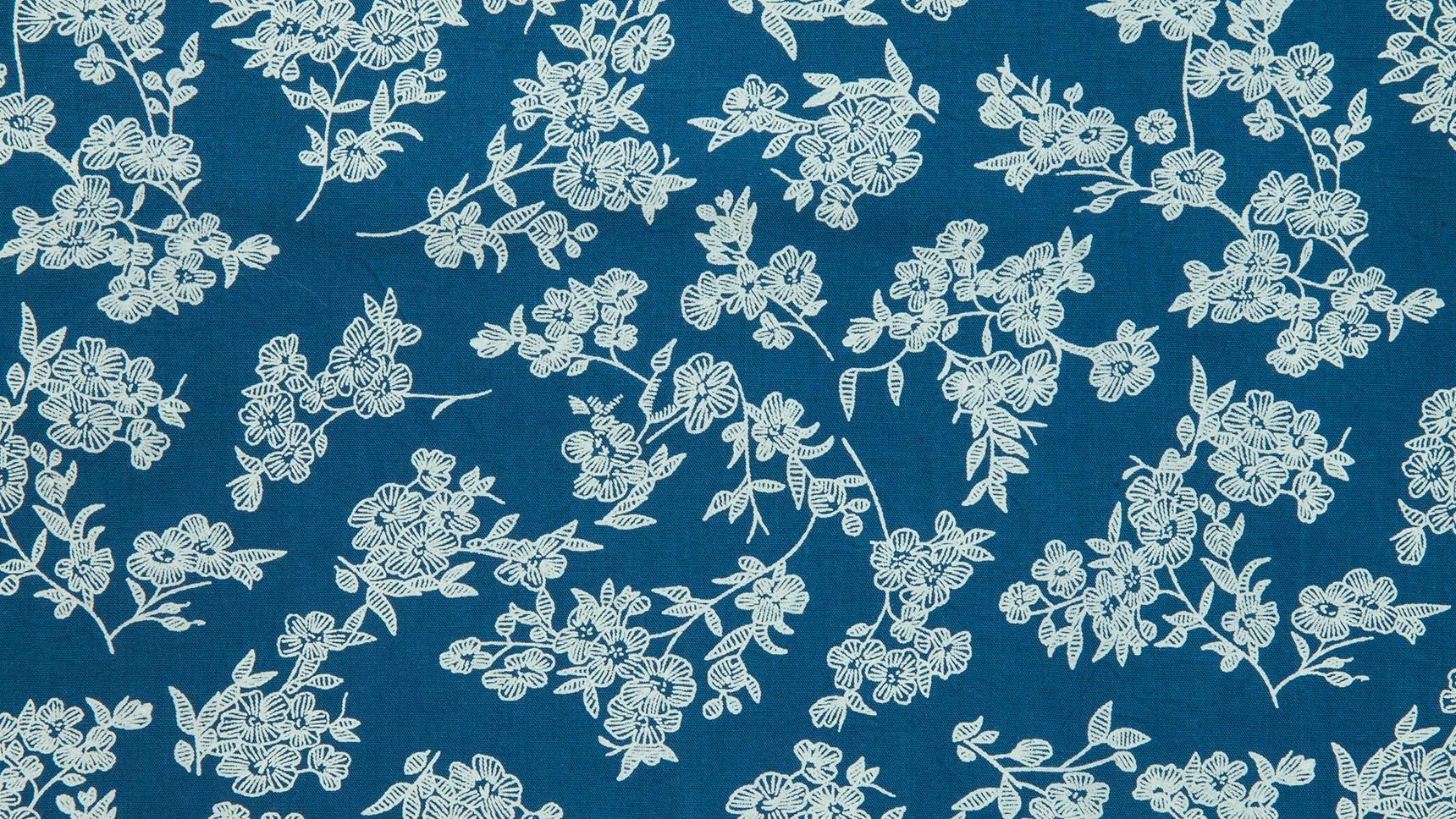 Floral Desenhado Azul