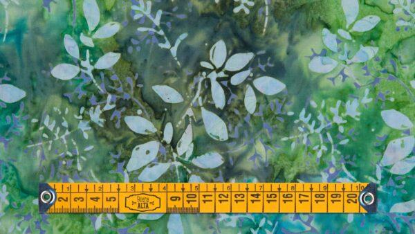 Batik Floral em Verdes