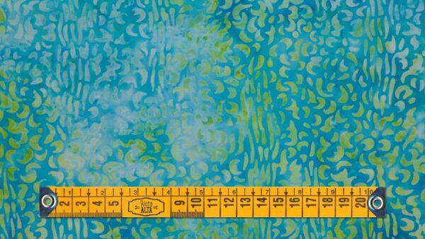 Batik Floral em Verdes III