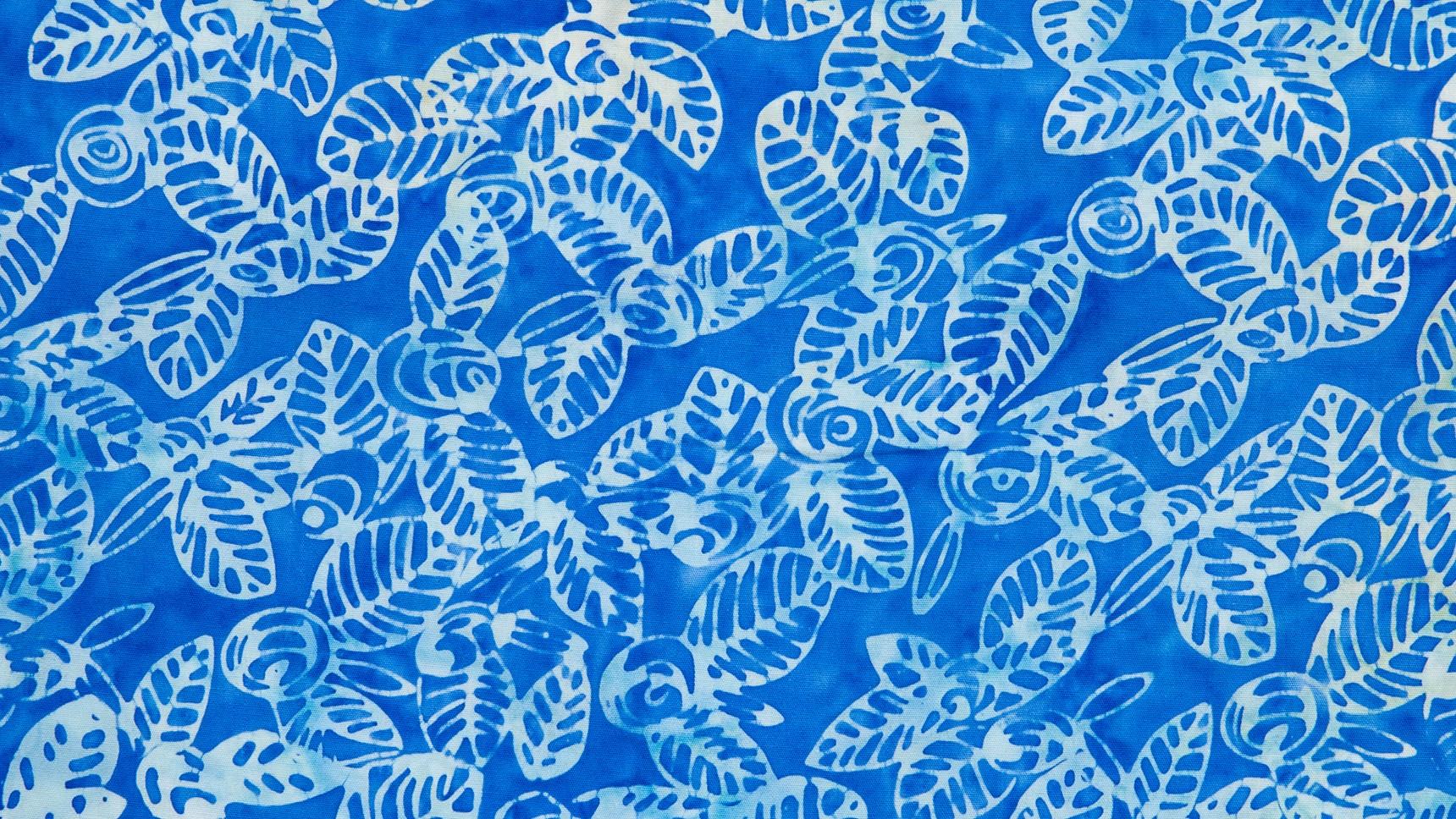 Batik Floral em Azuis II