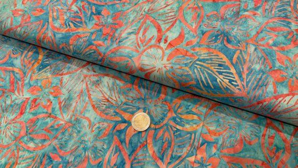 Batik Flor em Ferrugem