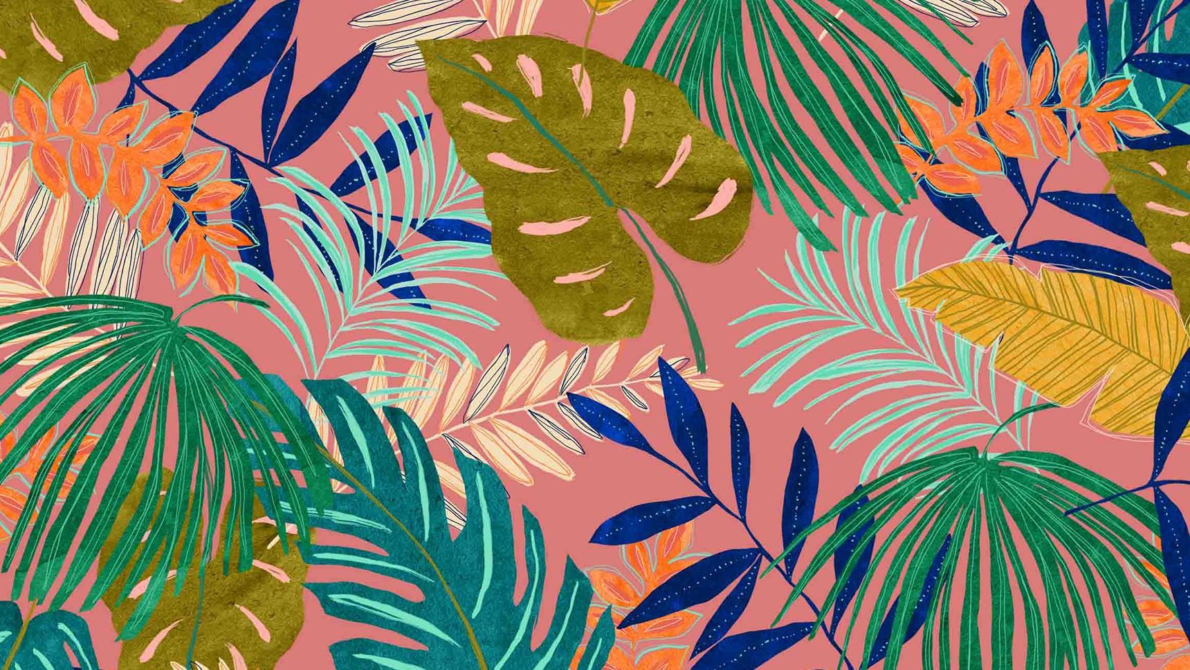 Lona/ Canvas - Caribbean Leaves