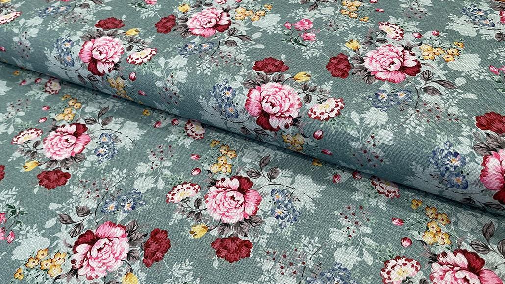 Lona/ Canvas - Floral em Azul